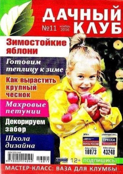 Журнал Дачный клуб (№11 2016) Читатьонлайн