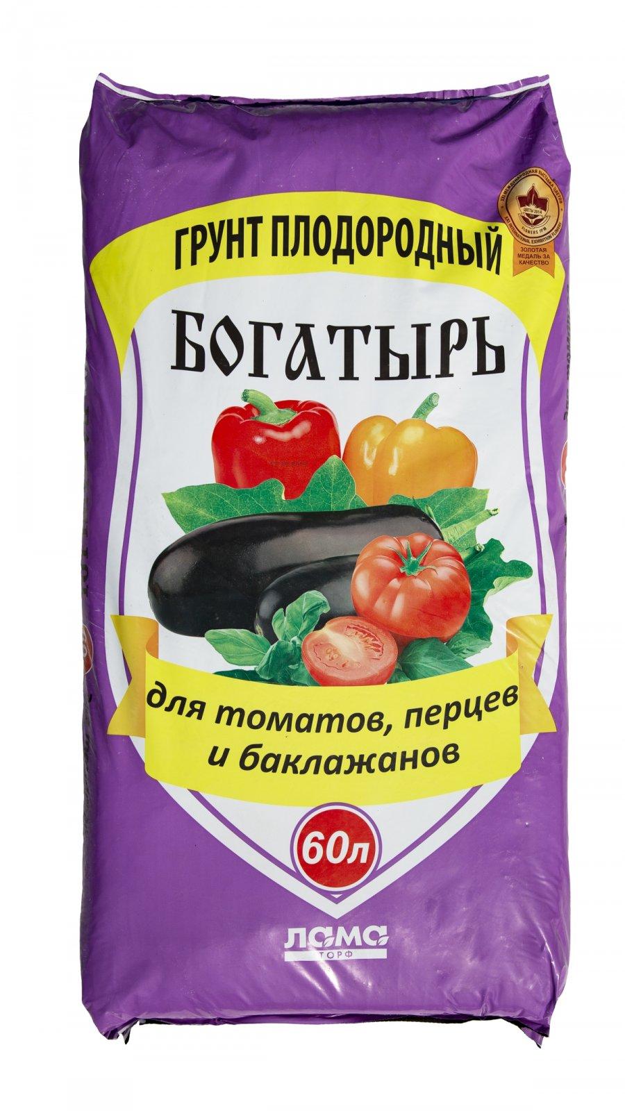 Грунт для томатов, перцев и баклажанов «Богатырь».